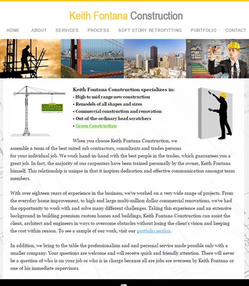 Website Design – Keith Fontana Construction