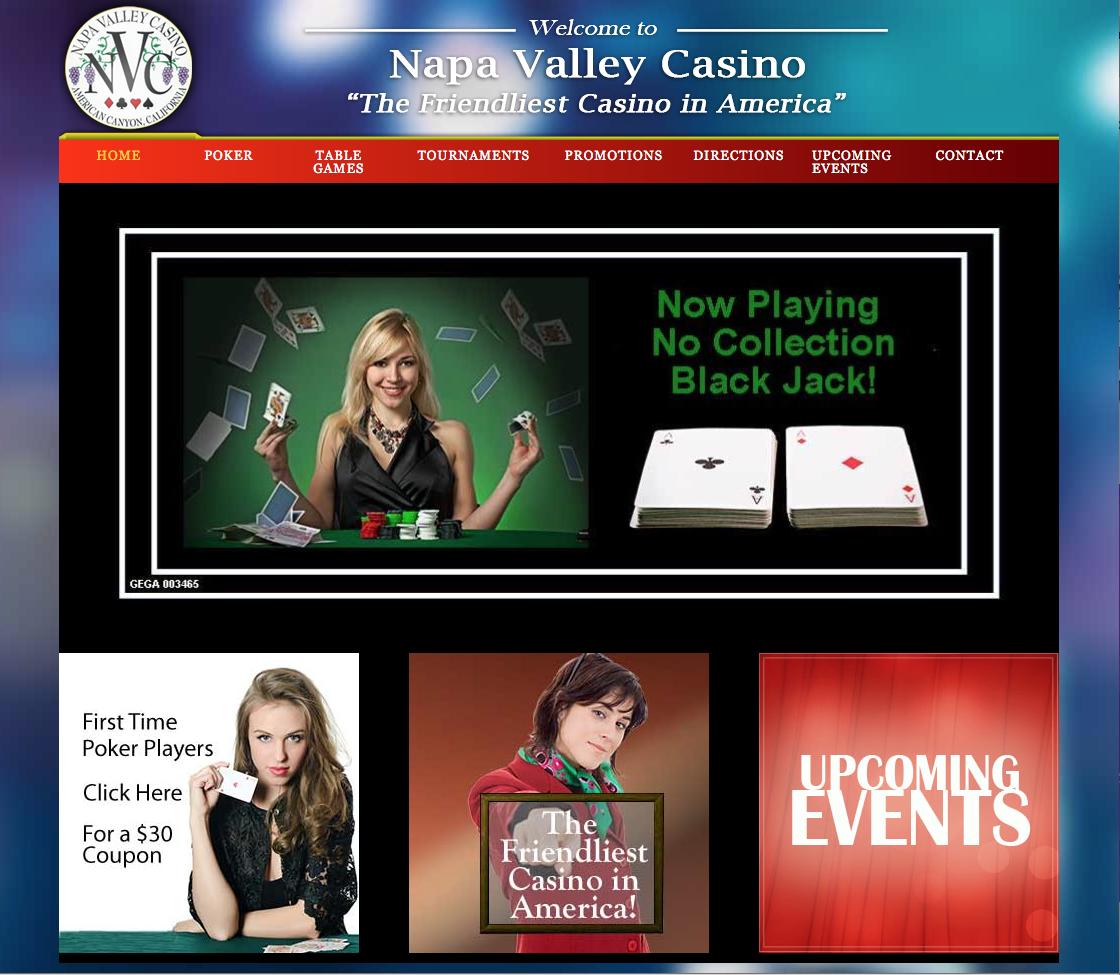 Web Design – Napa Valley Casino