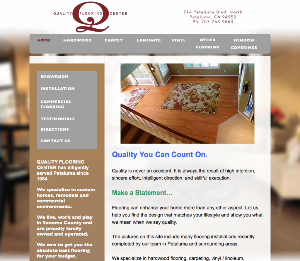 Image, Website Design for Quality Flooring