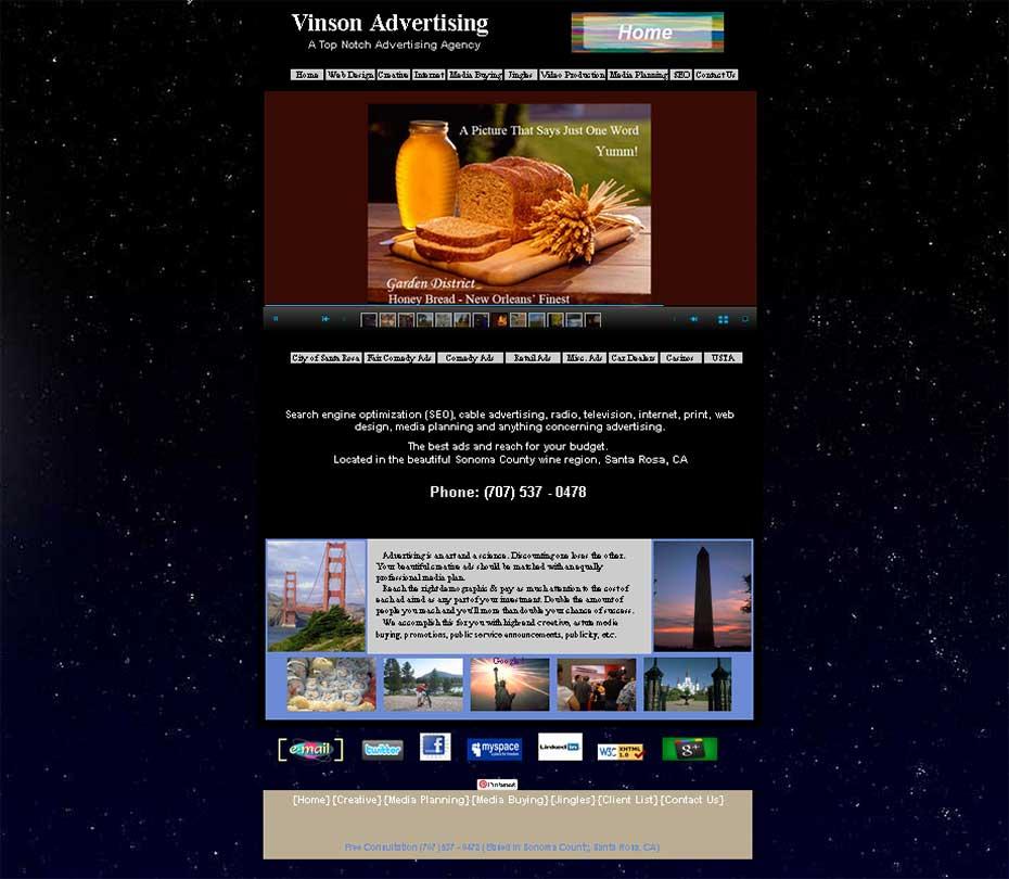 Website Design – Vinson Advertising