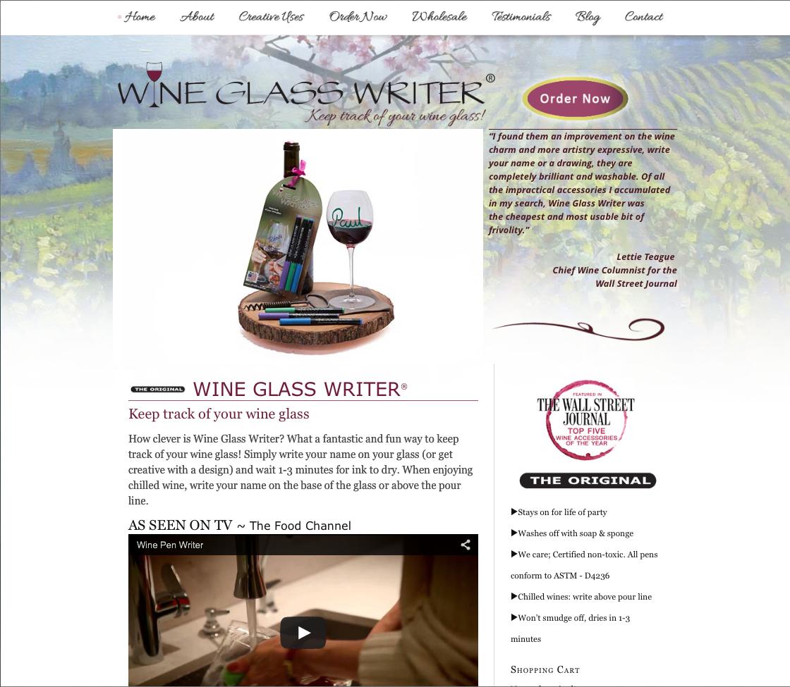 Web Design – Wine Glass Writer