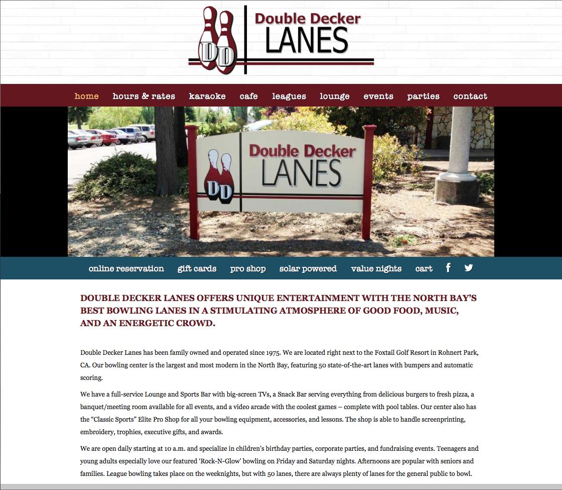 Website Design – Double Decker Lanes