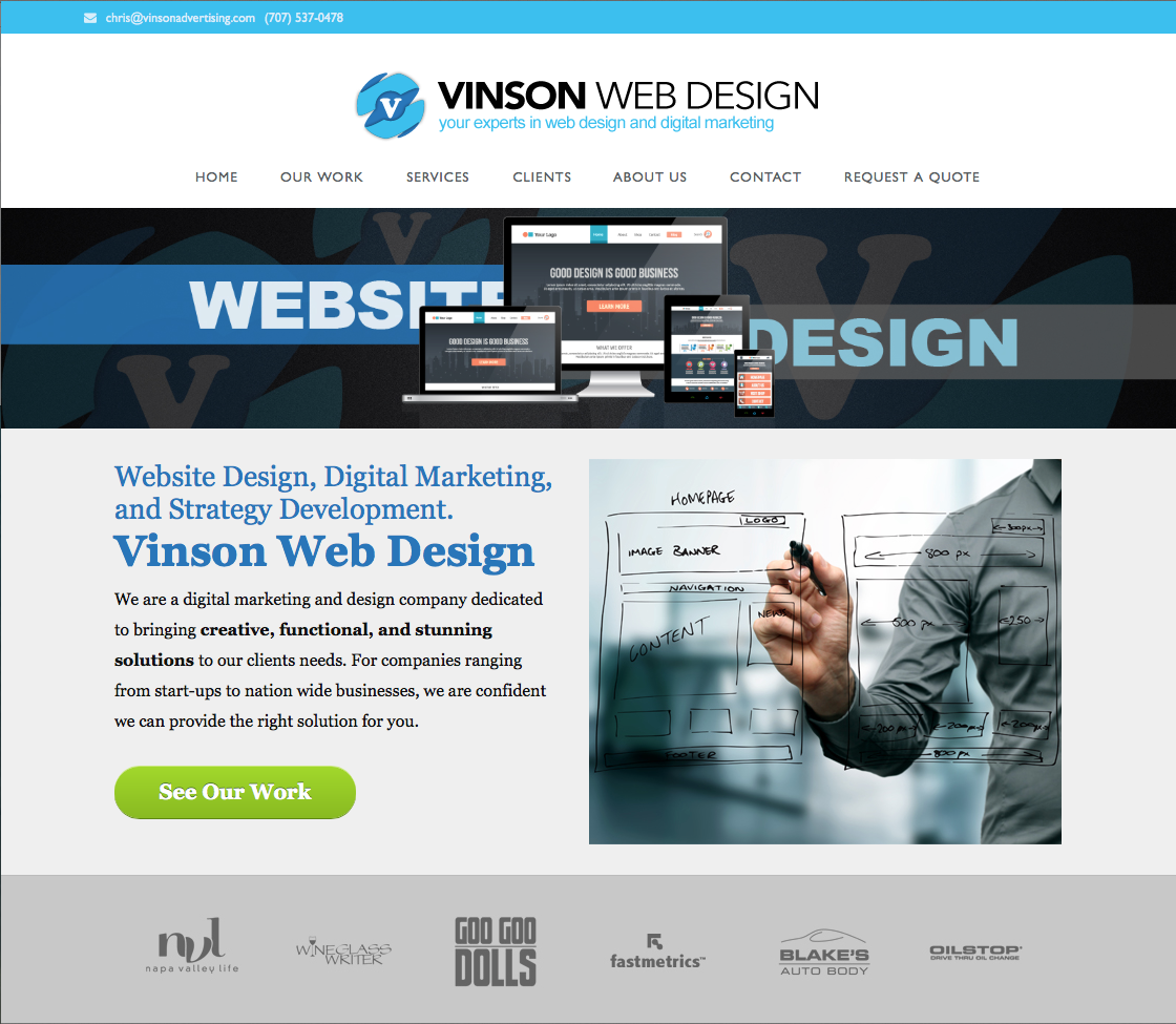 Website Design – Vinson Web Design
