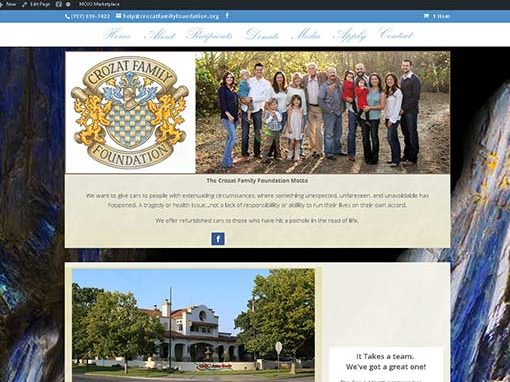 Web Design-Crozat-Family-Foundation