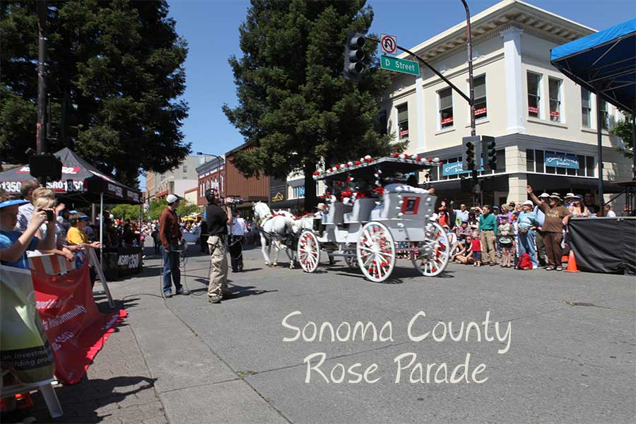 Advertising Sonoma County - image of Rose Parade
