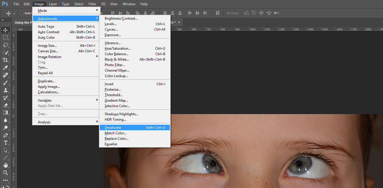 How to do selective sharpening in Photoshop using the High Pass Filter Desaturate