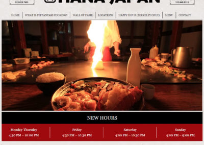 Hana Japan – Restaurant Website