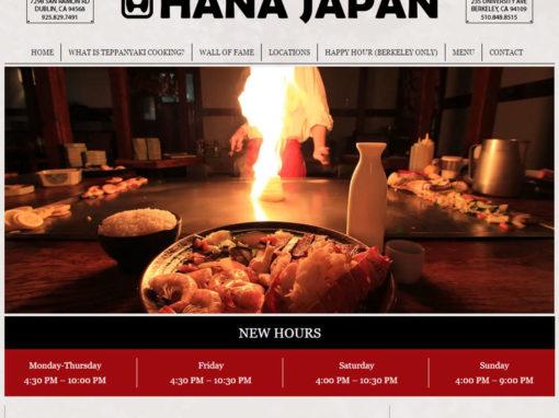 Hana Japan – Restaurant Website