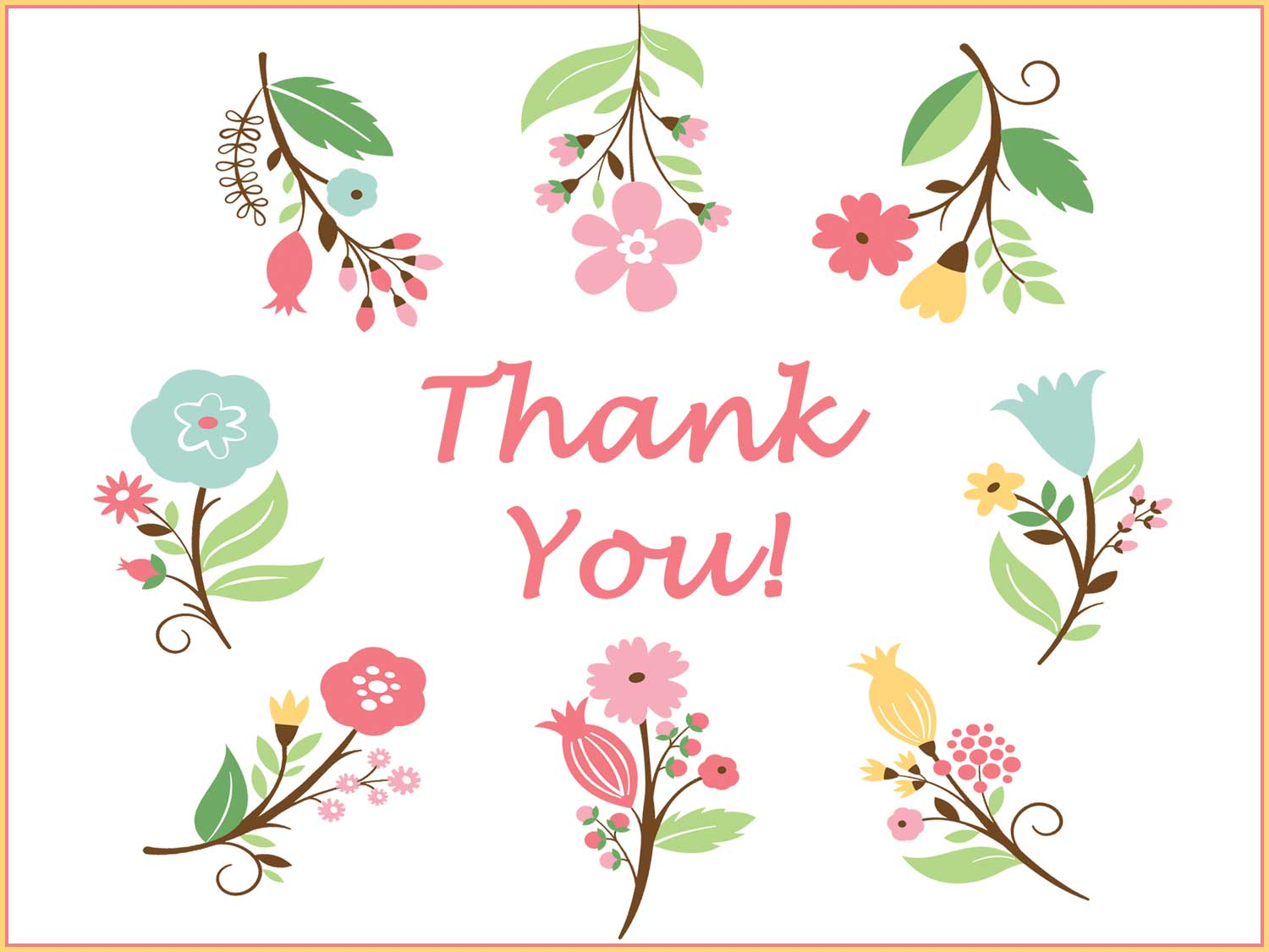 thank you card - flowers