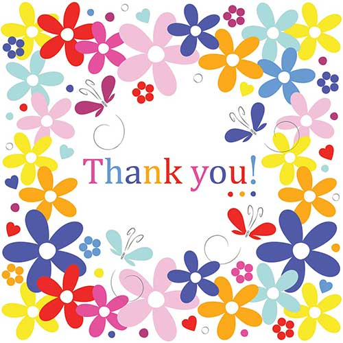 Thank You Card Spring Flowers Advertising Agency